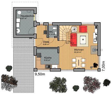 Modernes Hauskonzept